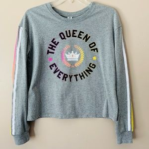 """Hybrid Crop T Shirt """"The Queen of Everything"""" S (J"""